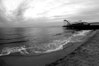 Jet Star and Casino Pier - January 2012 B&W